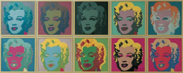 Le serigrafie Marylin di Andy Warhol