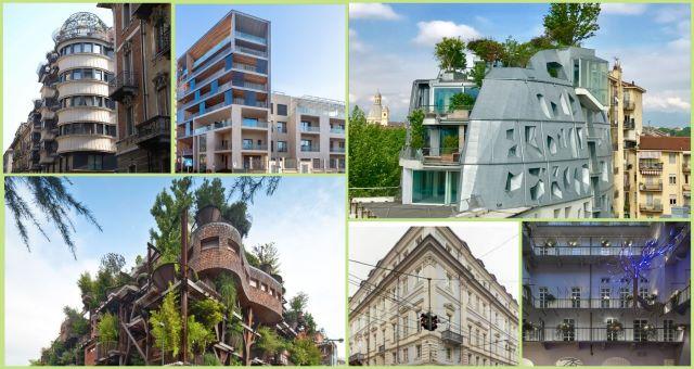 Collage immagini architettura contemporanea