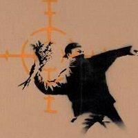 Un'opera dello street artist Banksy