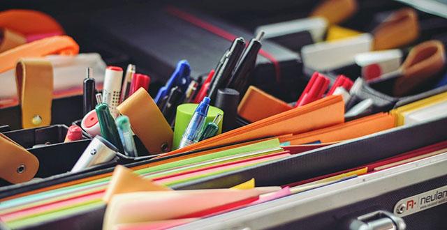 Penne quaderni fogli colorati - cartoleria