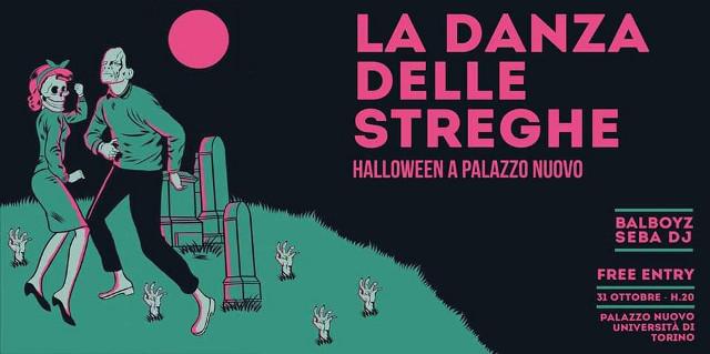 Locandina serata Halloween Palazzo Nuovo