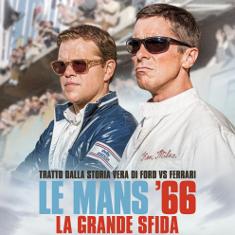 Matt Damon Christian Bale - Locandina Le Mans '66