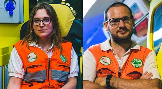 Lisa e Roberto, volontari Croce Verde