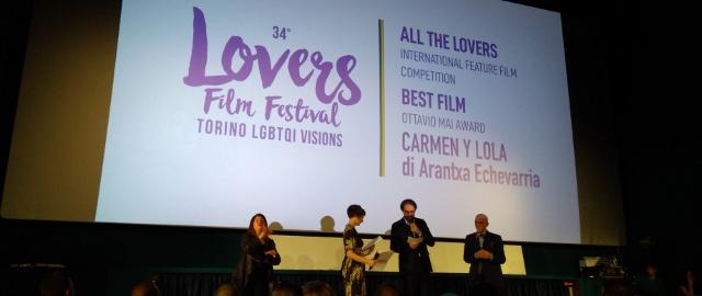 Un momento delle premiazioni del Lovers Film Festival