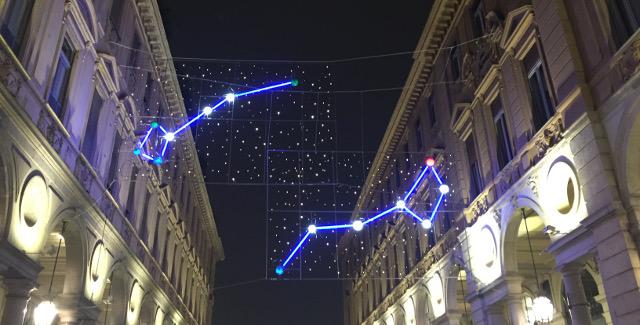 Luci d'Artista Planetarium via Roma