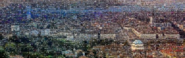 Il primo mosaico completato, con oltre 5mila fotografie