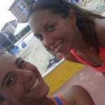 Rossella Prioglio e Bertolaso, giocatrici di beach volley del CUS Torino