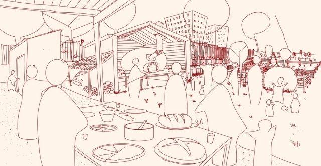 Disegno stilizzato di forno da panificazione - Progetto Spiga