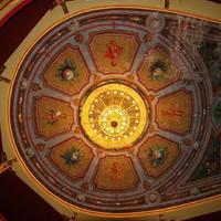 Il soffitto del Teatro Comunale di Cuorgnè