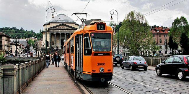 The tram no. 13