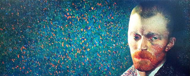 L'autoritratto di Van Gogh animato presente nella mostra