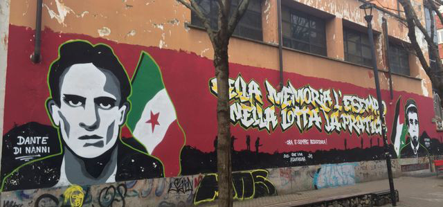 Murale su Dante Di Nanni e Vittorio Arrigoni - Vanchiglia