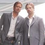 Brad Pitt e la sua controfigura in un film