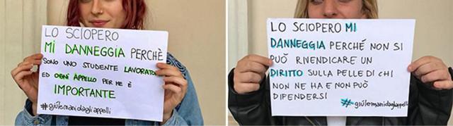 #giùlemanidagliappelli sciopero docenti
