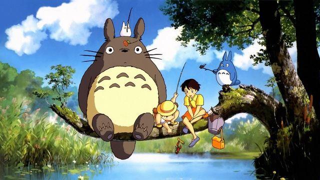 """Scena dal cartone animato """"Il mio vicino Totoro"""""""